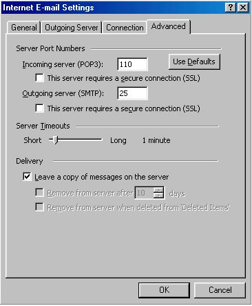 Leaving a copy on the server - Outlook 2003 - 3