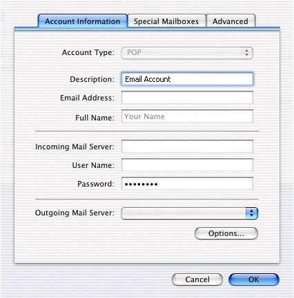 how to change my bigpond mail server password