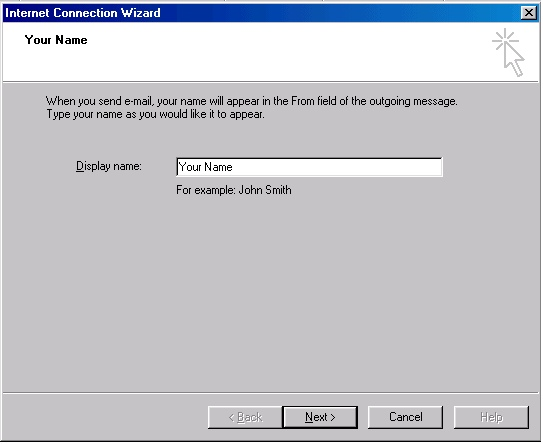 Outlook 2000 account creation - 3