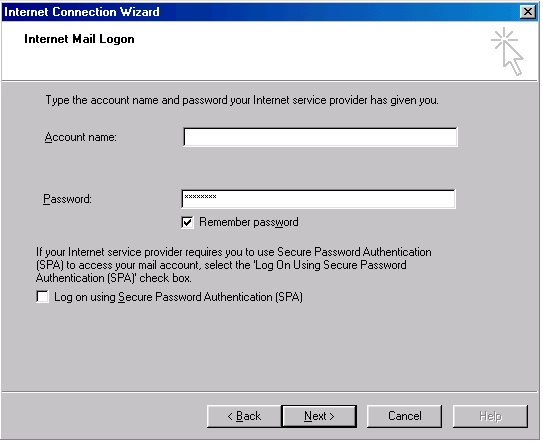Outlook 2000 account creation - 6