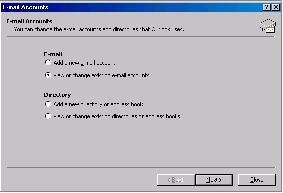 Outlook 2002 settings - 2