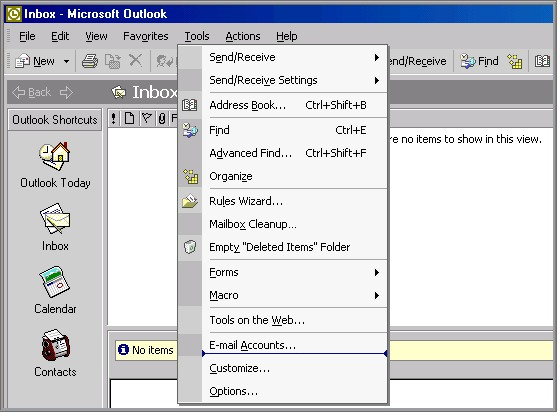 Outlook 2002 Settings 1