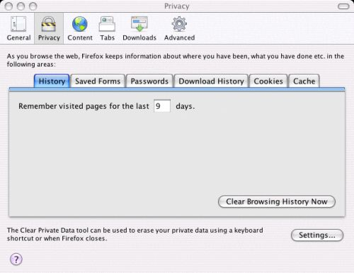 Firefox - Configure Settings 4