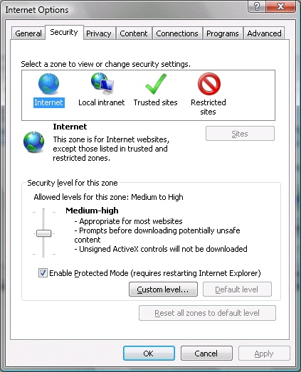 Check Setting Internet Explorer 7 - 3