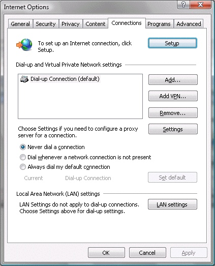 Check Setting Internet Explorer 7 - 6
