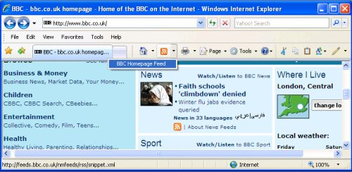 RSS Feeds - IE7 - 1