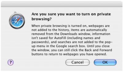Safari - Private browsing 2