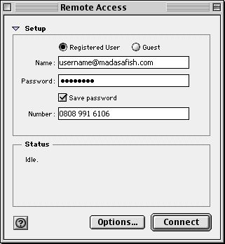 Default connection - Mac OS 8 - 3