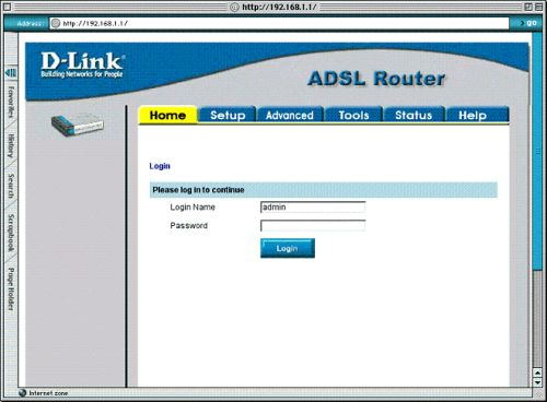 Installing D-LINK 504T with Mac