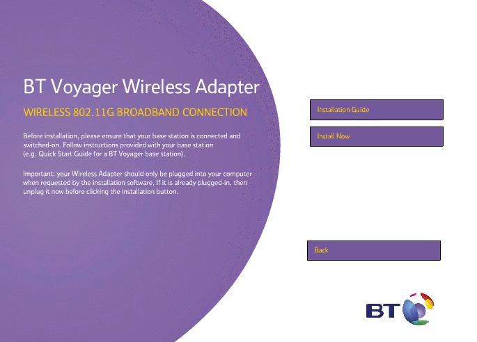 Bt Voyager 1055 Laptop Adapter Driver Download