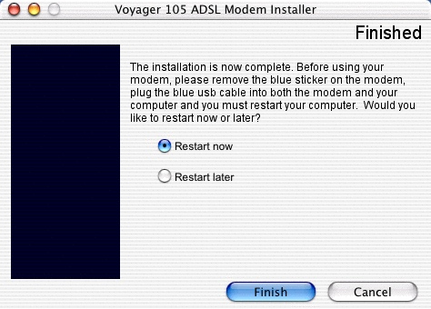 Installing the Voyager 105 - 9