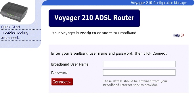 Installing the Voyager 210 - Ethernet connection - 1