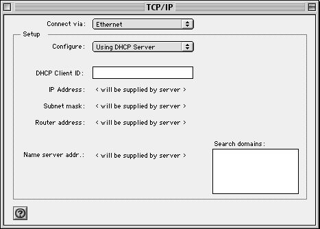 Click on the drop down menu Connect Via: Select Built-in Ethernet