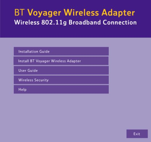 Installing Voyager wireless adapter - Win XP 1