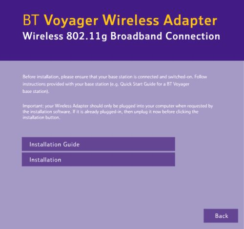 Installing Voyager wireless adapter - Win XP 2